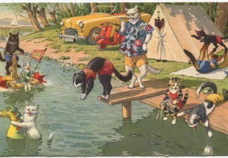 4d4ab122a58aebeb6b9fca1e2ee1da38–vintage-cat-post-card