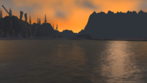 Looking back at Azshara from where the Duke's island used to be.